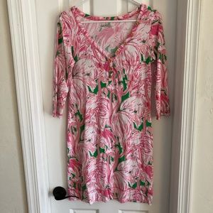 Lilly Pulitzer Flamingo Dress S